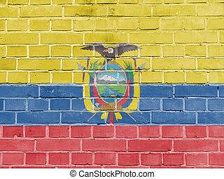 Ecuador Politics Concept: Ecuadorian Flag Wall