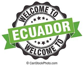 Ecuador round ribbon seal