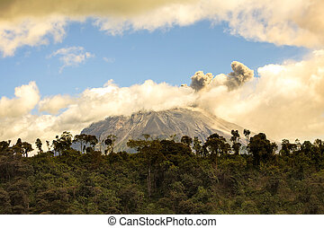 Tungurahua Volcano Spewing Restive Plumes Of Ash And Gas -...