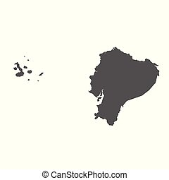 Ecuador vector map. Black icon on white background.