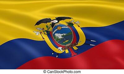 ecuadoriaans, vlag, wind