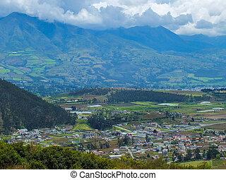 Ecuadorian Andes Mountain and Valley Landscape