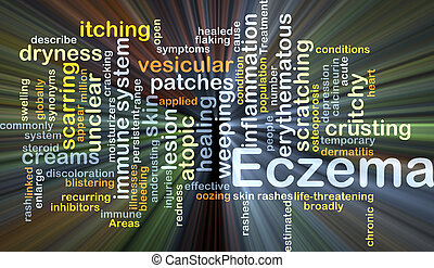 Eczema background concept glowing - Background concept...