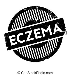 Eczema rubber stamp. Grunge design with dust scratches....