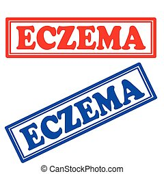 Eczema-stamps - Set of stamps with text Eczema, vector ...
