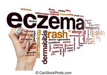 Eczema word cloud concept - Eczema word cloud