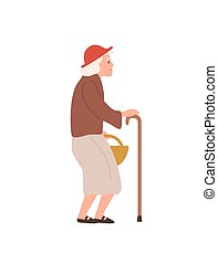edad, plano, illustration., blanco, oldness, senilidad, ...