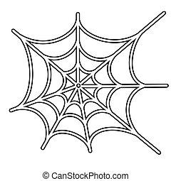 edderkop, vektor, netto