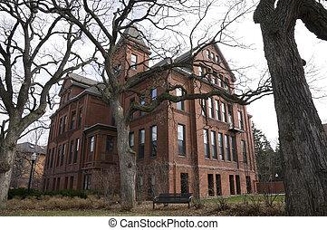 Eddy Hall Corner - Eddy Hall building in Old Campus Historic...