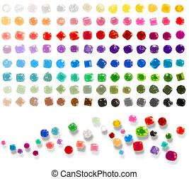 edelsteenen, kleurrijke