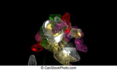 edelsteine, fallender , diamonds., &