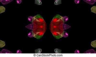 edelsteine, &, pattern., diamanten