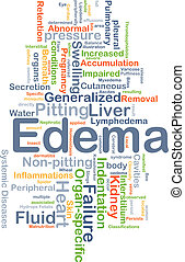 Edema background concept
