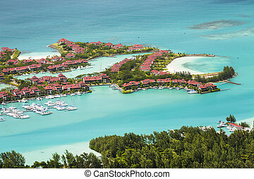 Eden Island, Mahe, Seychelles - View from Mount Copolia to ...