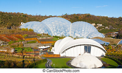 Eden Project Cornwall - Biomes at the Eden Project near St...