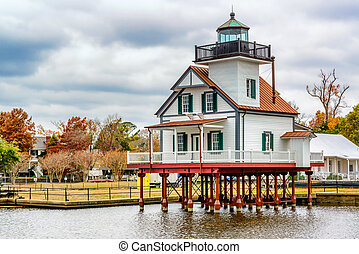 Edenton Light House, North Carolina - The Edenton North...