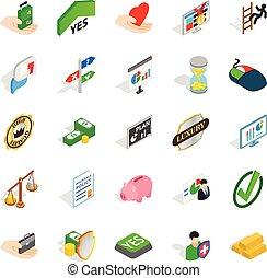 Edge icons set, isometric style - Edge icons set. Isometric...