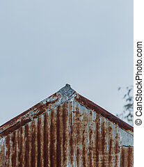 Edge of Rusted Metal Roof
