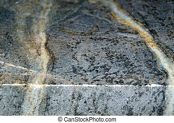 edge of soapstone slab - Close up angled view of the edge of...