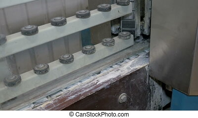Edge processing of window glass. Machine with control...
