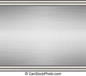 edged brushed metal background