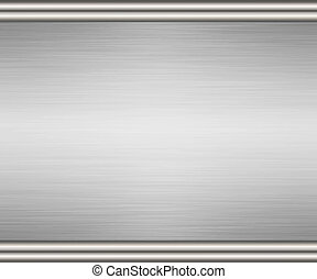 edged brushed metal background - brushed metal background...