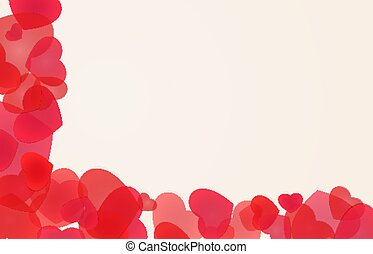 Edging illustration with red hearts