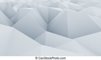Edgy light blue abstract polygonal surface. Modern motion...