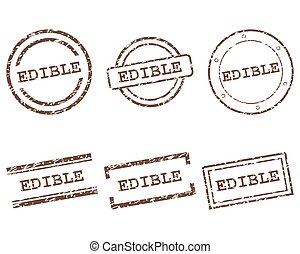 Edible stamps