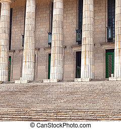 edifício histórico, em, a, grego, estilo, colunas