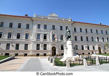 edifício histórico, em, pecs, hungria