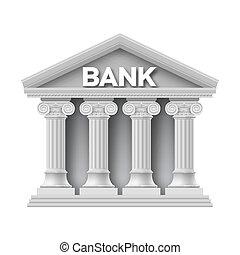 edifício pedra, de, banco