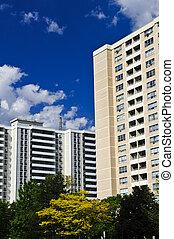 edifícios, apartamento
