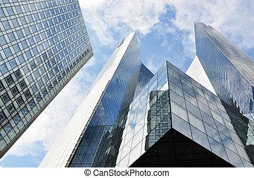edifícios, distrito, la, paris, high-rise, defesa