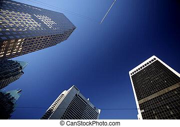 edifícios, em, centro cidade, vancouver