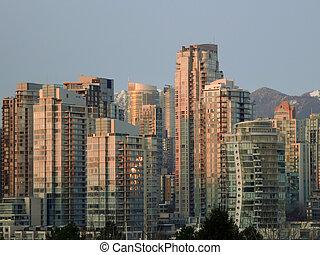 edifícios, em, vancouver, bc