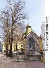 edifícios, estónia, tallinn, cidade, antigas