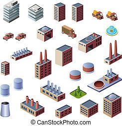 edifícios, industrial