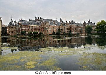 edifícios, parlamento, holandês