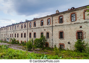 edifícios, patarei, eston, tallinn, mar, prisão, anterior, fortaleza