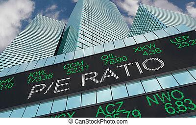 edifícios, relação, preço, ilustração, salário, pe, armazene...