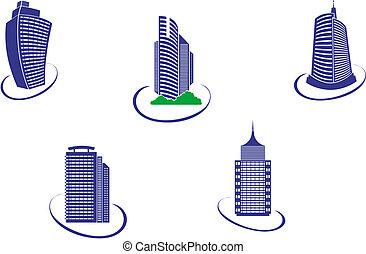 edifícios, símbolos