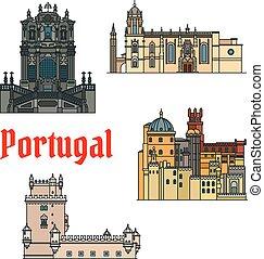 edifícios,  sightseeings, histórico,  PORTUGAL