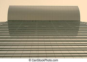 edificio, ángulo, retrato, vista, bajo, corporativo