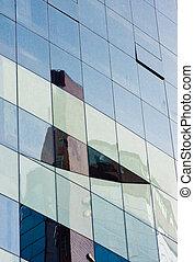 edificio, (1), reflexiones, oficina