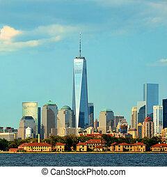 edificio, 20:, city., 20, city-, septiembre, supra-sumo, sep, él, uno, céntrico, 4, york, mundo, nuevo, comercio, world., manhattan, 2013, centro