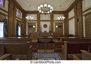 edificio, 3, histórico, courtroom