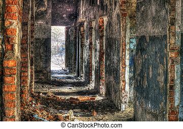 edificio, abandonado