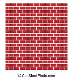 edificio, albañilería, conceptos, rojo, arquitectura, wall...
