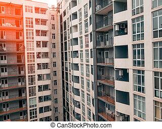 edificio apartamento, closeup., batumi.georgia